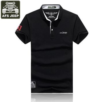 AFS JEEP 2017 Brand Polo Shirt Men POLO Shirt Solid Slim Fit Breathable Polo Shirts Pl