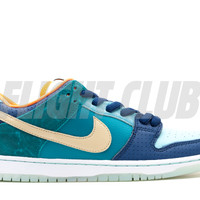 "dunk low premium sb qs ""mia skate shop 10th year anniversary"" - brv blue /mtlc gld str-mnrl bl 