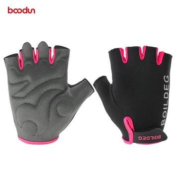Boodun Gym Gloves Men Women Body Building Half Finger Fitness Gloves An-slip Weight Lifting Sports Training Fingerless Gloves