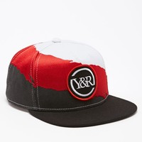 Young & Reckless Splash Snapback Hat - Mens Backpack - Black/Wht/Red - One