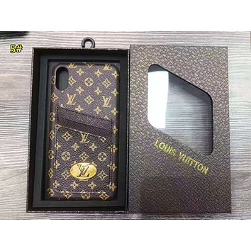 LV & GUCCI Fashion New More Letter Monogram Print Women Men Protective Cover Phone Case 5#