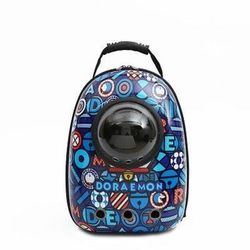 Space Capsule Astronaut Pet Cat Backpack Bubble Window for Kitty Puppy Chihuahua Small Dog Carrier Crate Outdoor Travel Bag