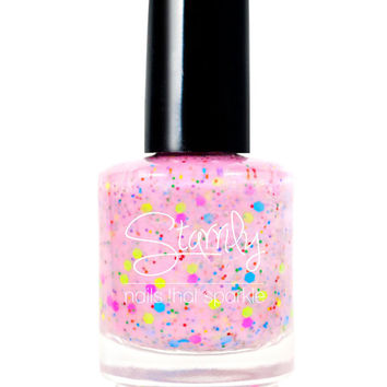 Strawberry Donut - Neon Handmade Nail Polish Full Bottle