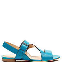 Zed Textured Leather Sandals by Sergio Rossi - Moda Operandi