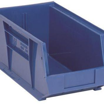 """Quantum Storage Systems Stack And Hang Bin, 14-3-4"""" X 8-1-4"""" X 7"""", Blue"""