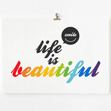 Life is beautiful 8x10 art print by loopzart on Etsy