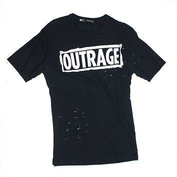 Dsquared Graphic Black TShirt Outrage | Pre-owned Used