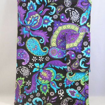 Kindle Fire HD Case Cover Purple Blue Green Paisley Padded Kindle Cover