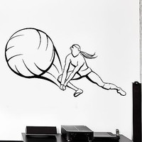 Wall Stcker Sport Volleyball Player Girl Female Woman Vinyl Decal (z3048)