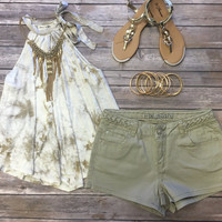 All She Wants Tank: Taupe