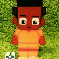 Ivory Coast football soccer craft activity. Printable paper toy. Instant download. Make you own cards, banners and football soccer bunting!