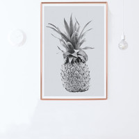 Pineapple Poster- Printable Photo,Pineapple Print-Instant Download-24x36-Printable Women Gift-Printable Men Gift-Tropical Print-DIY gift