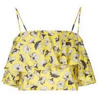 Flower Frill Bralet - Lemon