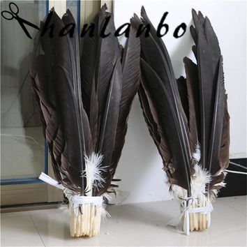 40-65cm/16-26inch quality precious eagle feather 5pcs diy costume party decorations natural color eagle plumage collection