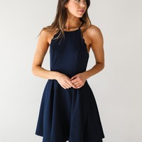 Navy High Neck Tank Dress - Luca + Grae