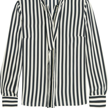 Iris and Ink Striped silk blouse – 0% at THE OUTNET.COM
