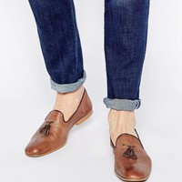 ASOS | ASOS Tassel Loafers in Washed Leather at ASOS