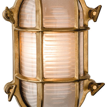 Firstlight 3433BR Nautic Solid Brass Bulk Headlight