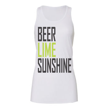 beer lime sunshine tanks, workout tank top, workout tank, exercise tank, gym tank, workout, workout tanks, tank top, workout shirts, womens