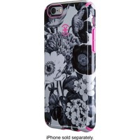 Speck - Inked Hard Shell Case for Apple® iPhone® 6 - Vintage Bouquet Gray/Shocking Pink