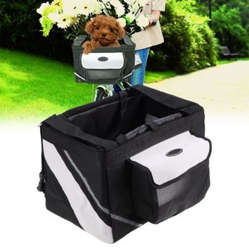 New Bicycle Handlebar Small Pet Carrier Bike Basket with Dog cat - Walmart.com