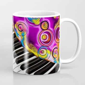 PIANO FLOWS Mug by violajohnsonriley