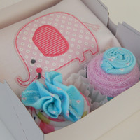 Elephant Jungle Baby Shower Theme Gift Box