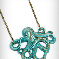 Sea Green Octopus Necklace | PLASTICLAND