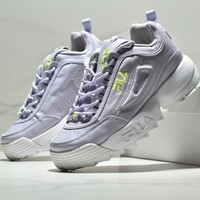 FILA DISRUPTOR 2 Leisure Heightening Sports Shoes-1