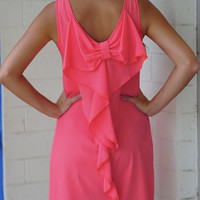 Sweet Summertime Bow Dress: Coral | Hope's