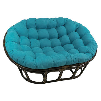 Double Papasan Chair (Mamasan Chair) with Micro Suede Cushion