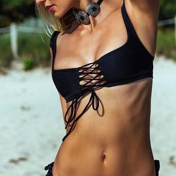 Soah Hope Bikini Top in Black