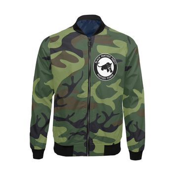 Black Panther Party, Camo - Lightweight Bomber Jacket - Big & Tall