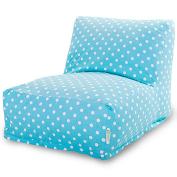 Aquamarine Small Polka Dot Bean Bag Chair Lounger