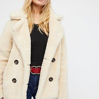Free People Teddy Peacoat - Oatmeal