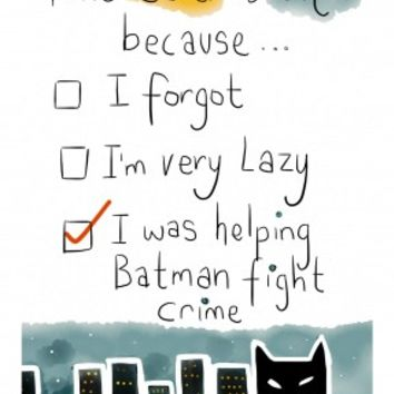 Helping Batman Fight Crime| Belated Birthday Card |WB1060
