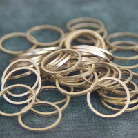 Brass Link Rings, Round, Unplated, 14mm, 50 Pieces