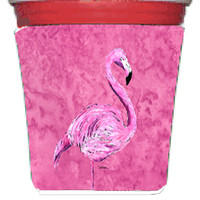 Flamingo on Pink Red Solo Cup Beverage Insulator Hugger