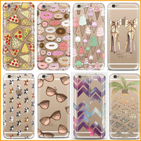2017 Cartoon Animal Pizza Ice-Cream Donuts Glasses Case For Apple iPhone 5 5S SE Soft Silicone TPU Back Cover Capa Coque EC806