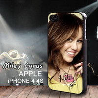 Miley Cyrus Limited Edition Signatures iphone 4 case iphone 4S Miley Ray Cyrus Case