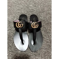 GUCCI men and women Dual G Flip flops