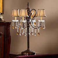 ETHAN HOME Clarissa Tea Crystal Table Lamp | Overstock.com