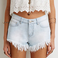 Frayed Denim Cutoffs