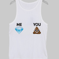 me vs you Tank Top