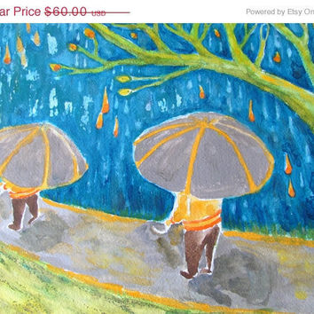 Sale on Art and 15 Off Original Watercolor by RenaissanceDays