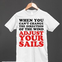 Adjust Your Sails-Unisex White T-Shirt