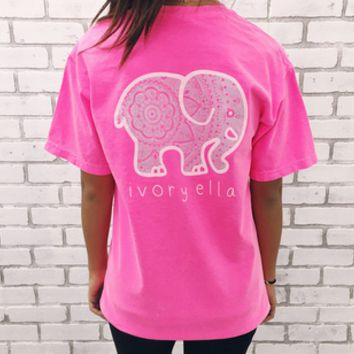 Causal Elephant Printed T-Shirt