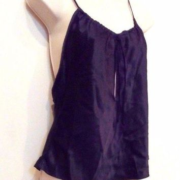 DCCKV2S Size Small Sexy Black Lingerie Secret Treasures Sleepwear Shirt Blouse