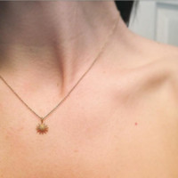 Minimalist fashion alloy sun pendant ornament exquisite female necklace