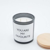 You Are My Favourite Glass Candle - Urban Outfitters